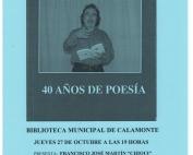 Cartel presentación libro poemas