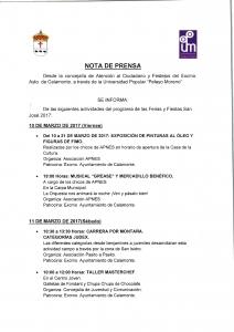 Nota de prensa1, Actividades de  Feria_001