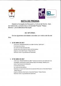 Nota de Prensa, Día del Libro_001