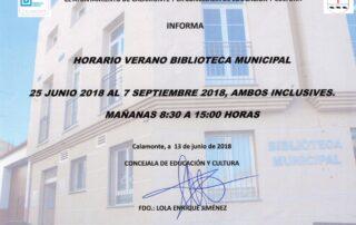 nota prensa Biblioteca horario verano 001