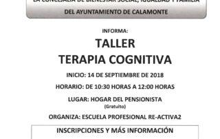 TALLER TERAPIA COGNITIVA - NOTA DE PRENSA