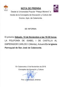 Nota de Prensa. Polifonia de Isabel I de Castilla al Emperador Carlos V_001