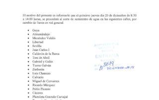 20181218_CORTE SUMINISTRO DE AGUA EL DIA 20 DICIEMBRE