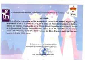 NOTA DE PRENSA entrega regalos SS MM los Reyes Magos_001