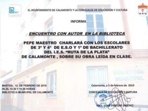 Encuentro autor Pepe Maestro 2019