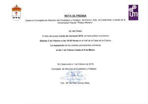 Nota de Prensa. Fallo del Jurado Cartel de Carnaval_001