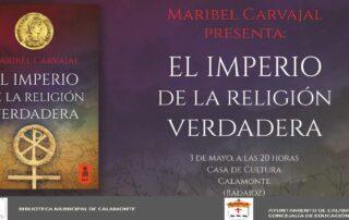 Cartel Presentación libro Maribel Carvajal