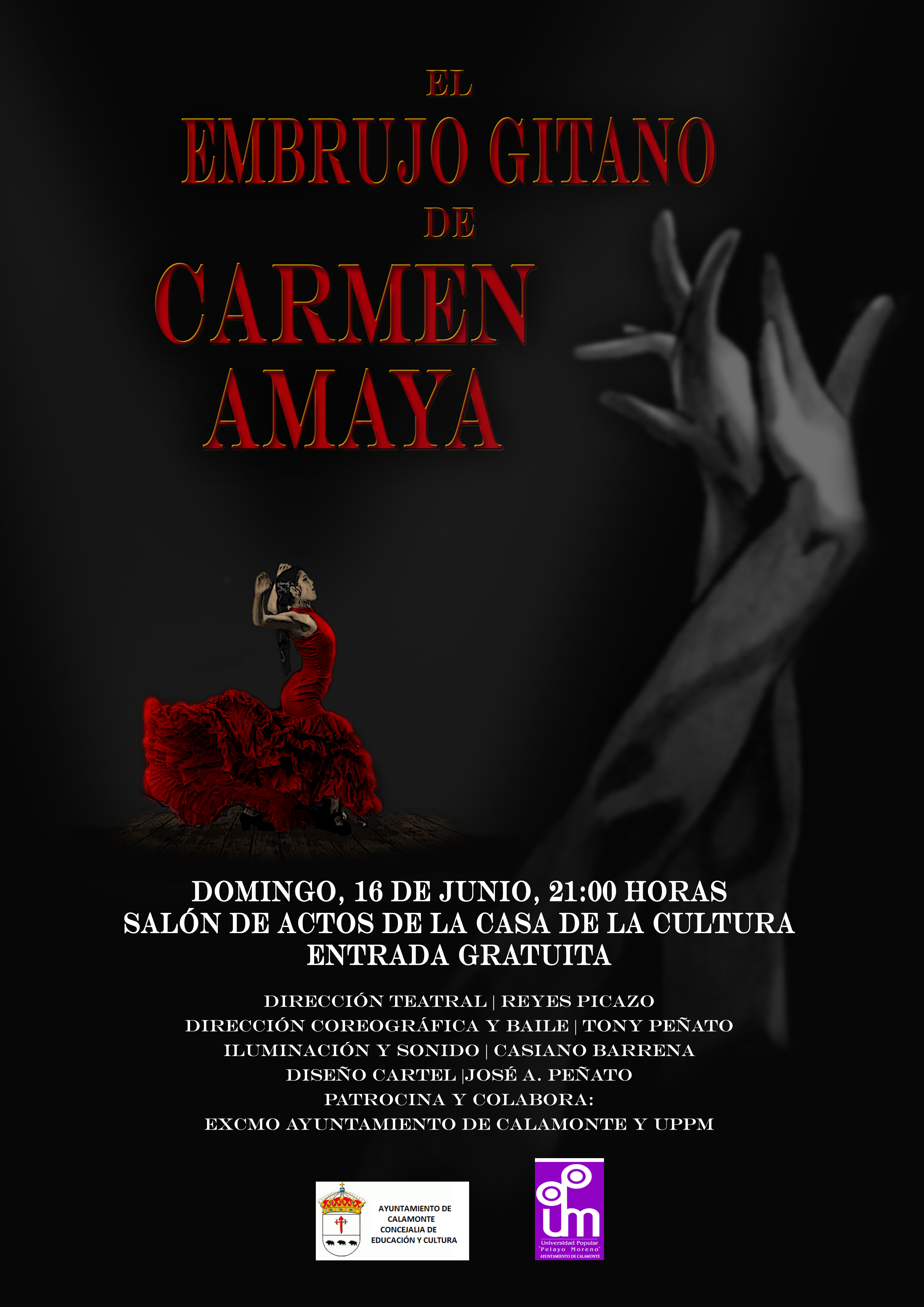 Cartel El embrujo de Carmen Amaya