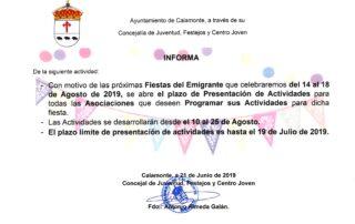 NOTA DE PRENSA. PLAZO PRESENTACIÓN DE ACTIVIDADES FERIA EMIGRANTE_001