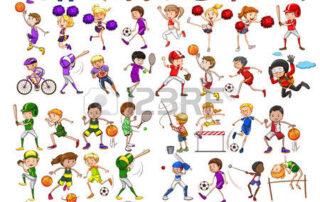 43332507-niños-jugando-varios-ilustración-deportes