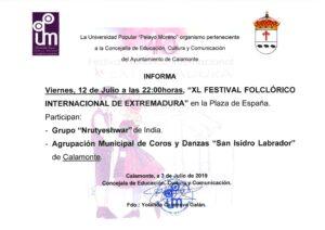 NOTA DE PRENSA XL FESTIVAL FOLKLÓRICO INTERNACIONAL DE EXTREMADURA_001