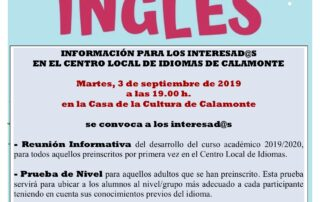CLI CARTEL PREINSCRIPCIÓN CURSO 19-20