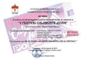 NOTA DE PRENSA V FESTIVAL CALAMONTE JOVEN_001