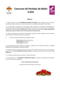 Concurso de Portales de Belén 2019