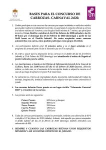 BASES PARA EL CONCURSO DE CARROZAS 2020 1