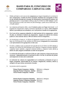 BASES PARA EL CONCURSO DE COMPARSA 1
