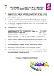 BASES PARA EL CONCURSO DE DISFRACES DE ADULTOS ARTEFACTOS