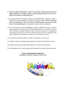 BASES PARA EL CONCURSO DE GRUPOS DIVERTIDOS DE LOS DESFILES DEL CARNAVAL 2020 2