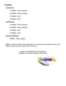 Bases concurso chirigotas y comparsas infantiles del carnaval calamonte 2020 5