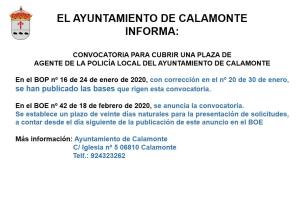 convocatoria plaza policía