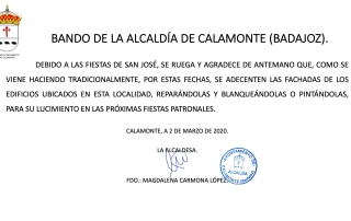 BANDO DE ALCALDÍA